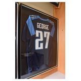 Autographed Eddie George Titans NFL Football Jersey
