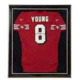 Autographed Steve Young San Fransisco 49ers Football Jersey