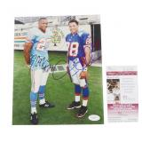 Autographed Eddie George and Terry Glenn Football Photo