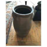 Antique stoneware three gallon churn