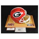 A Matthew Stafford and Knowshon Moreno autographed full-size Georgia Bulldogs replica helmet | Their