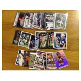 Peyton Manning football cards throughout his 18 year career