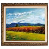28″ x 32″ | Sylvia Adler | Country Vineyard | Giclee on Canvas | Hand Embellished | Limited Edition