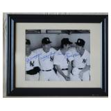 DiMaggio, Ford, Mantle, & Martin Autographed Photo