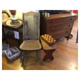 Antique Rocker and Bench