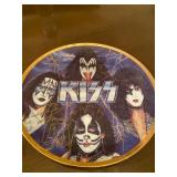 Kiss limited edition signed plate by all 4 original members