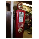 "VINTAGE ""ROAR WITH GILMORE"" GAS PUMP"