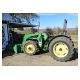JOHN DEERE TRACTOR WITH 521 FRONT LOADER