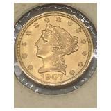 1907 $2.5 liberty head gold piece