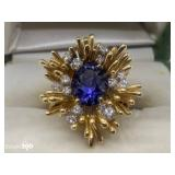 14k Gold Tanzanite Ring
