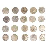 Chinese Antique Group Of Sliver Coins