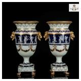 A pair of 19th Antique Minton Style Vases