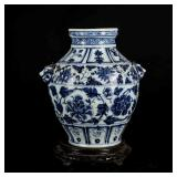 17th Transition Period Blue&White Vase