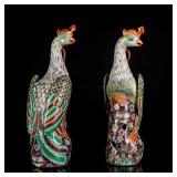 Pair Of 18th Yongzheng Style Phoenixes (Export)