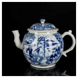 18th Kangxi Export Antique Blue&White Teapot
