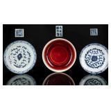 Group Of Three Ming Antique Dishes