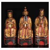 18-19th Antique Camphor Wood Sculptures