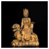 Ming Antique Wood Guanyin Sculpture
