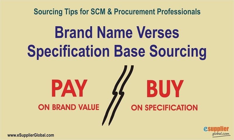 Brand Name verses Specification base Sourcing
