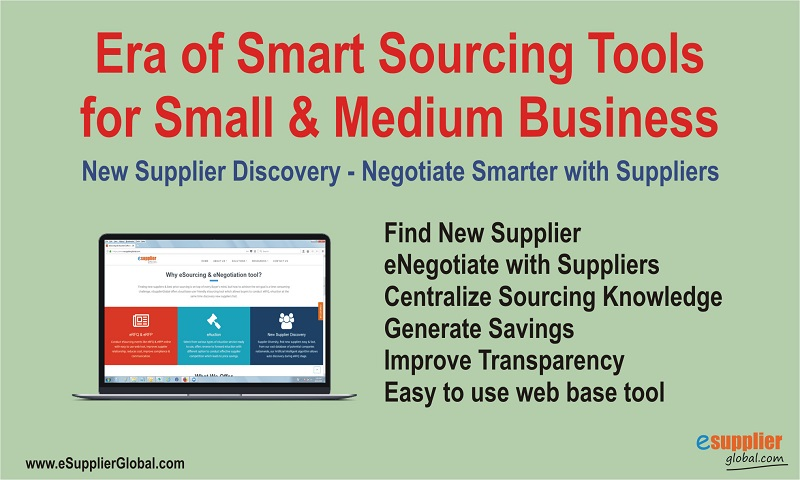Smart Sourcing tools allows Small to Medium size Business to manage Supply Chain Risk