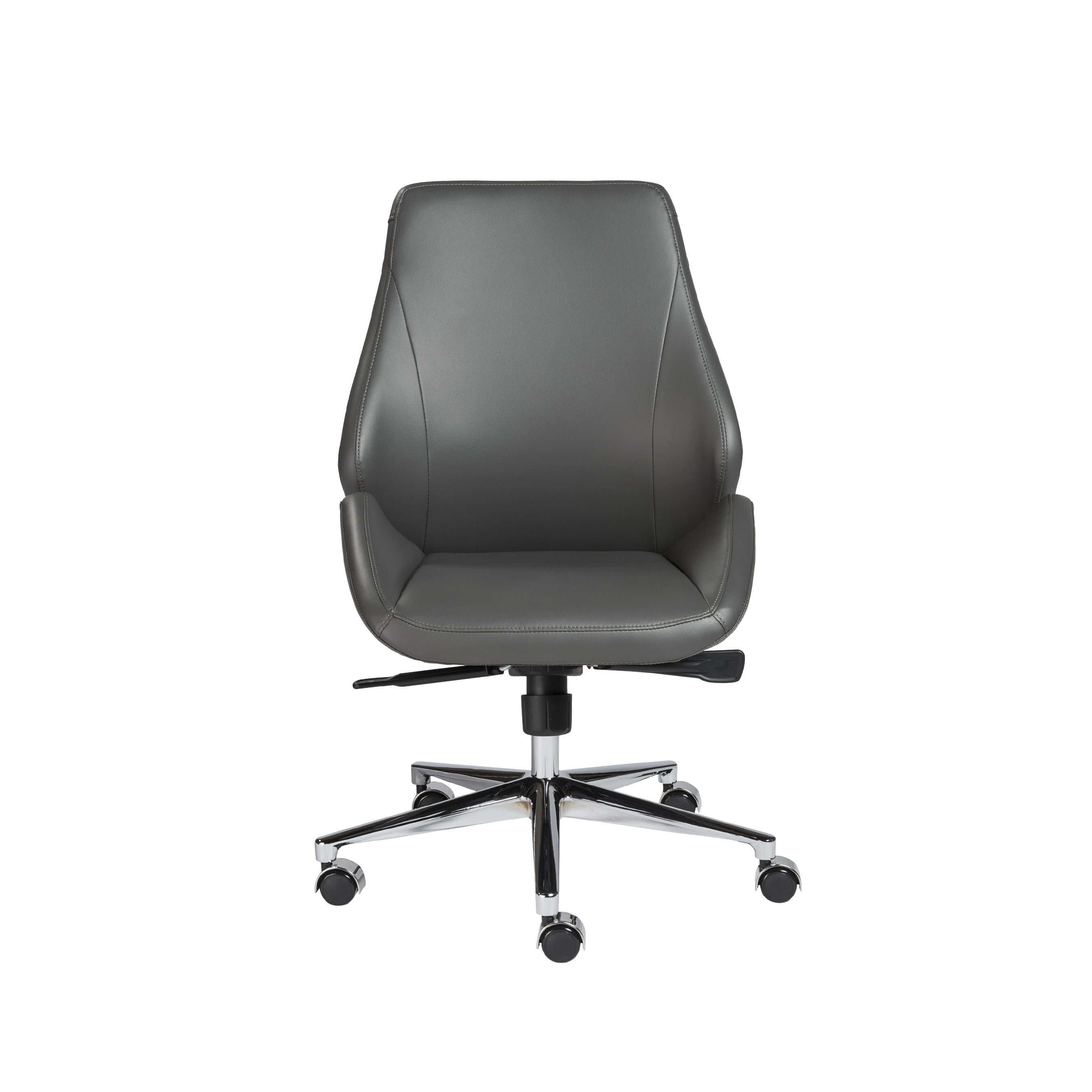 Bergen Armless Low Back fice Chair Euro Style