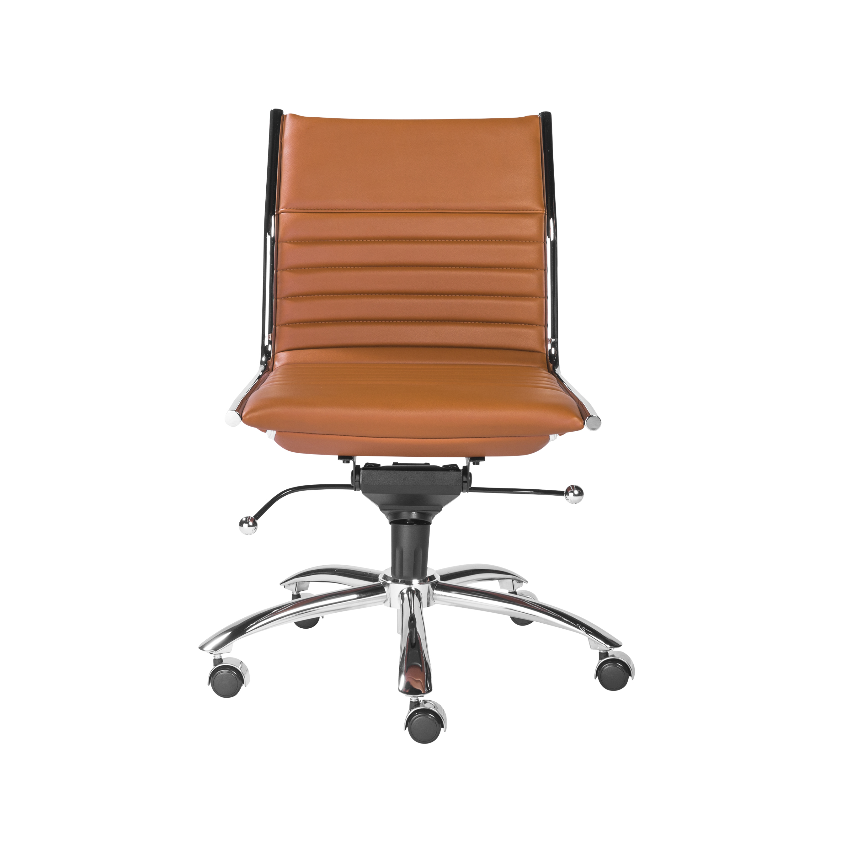 Dirk Armless Low Back fice Chair Euro Style