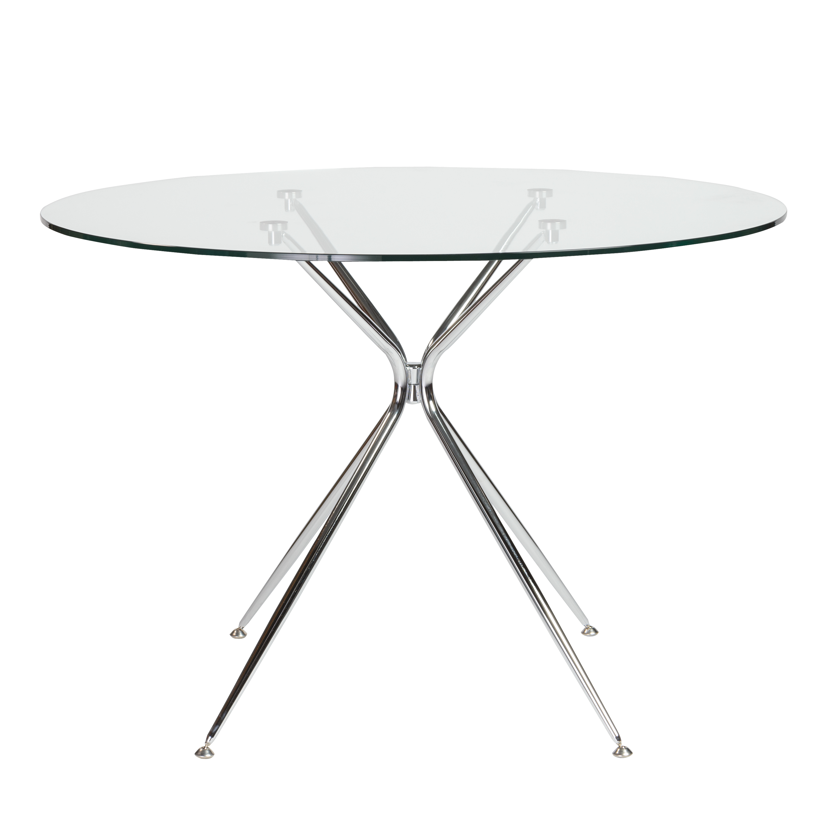 Atos 42 Inch Round Dining Table Euro Style