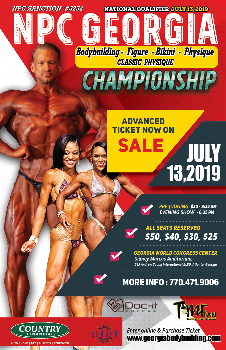 NPC Georgia Bodybuilding-Figure-Bikini-Physique 2019