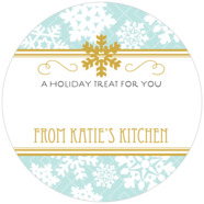 Snowflake Policy large circle gift labels