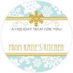 Snowflake Policy small circle gift labels