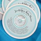 baby shower cd/dvd labels