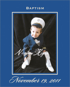 Sailor boy Baptism