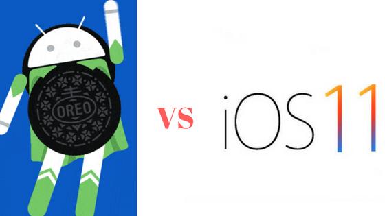 Oreo vs iOS11