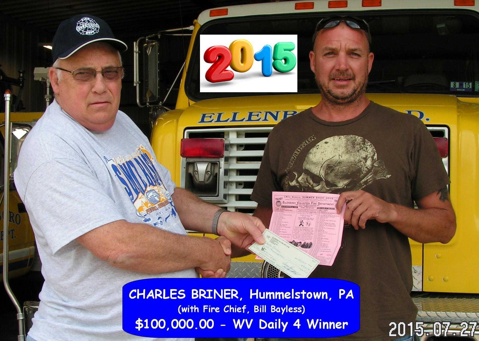 2015 Grand Prize Winner Charles Briner
