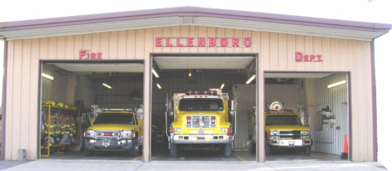 Ellenboro Fire Department with Doors Open