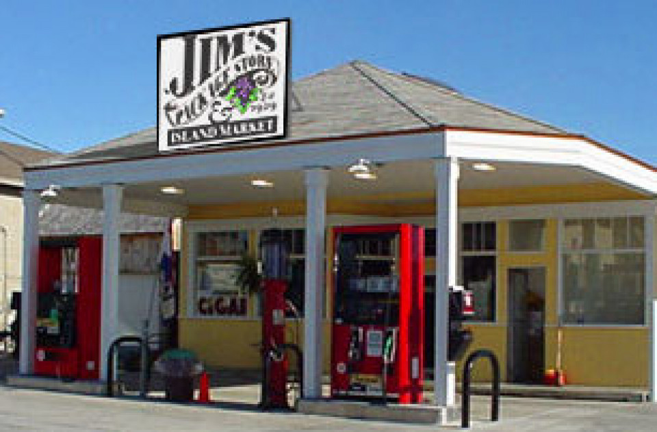 Jims package store logo