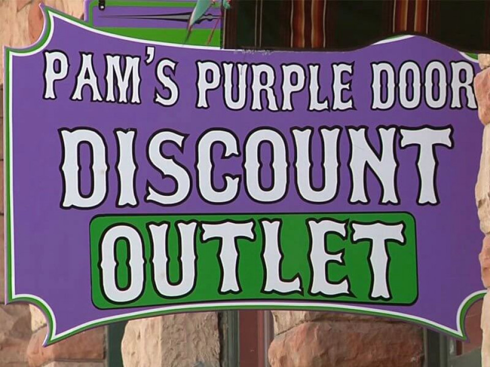 Pam's Purple Door logo