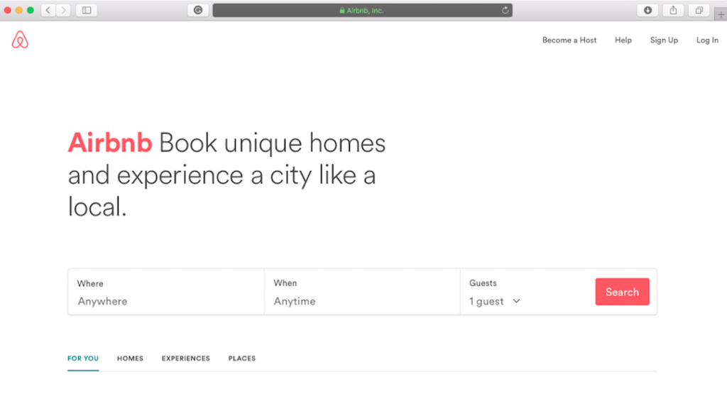 airbnb-main-page