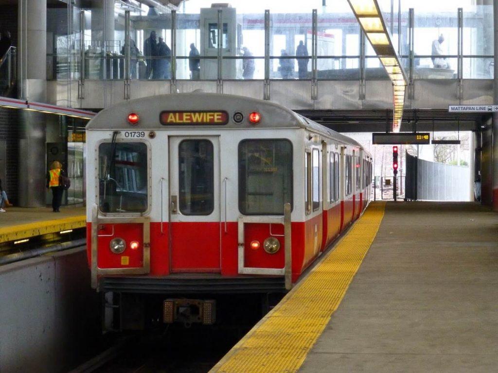 MBTA Red Line Train at Ashmont