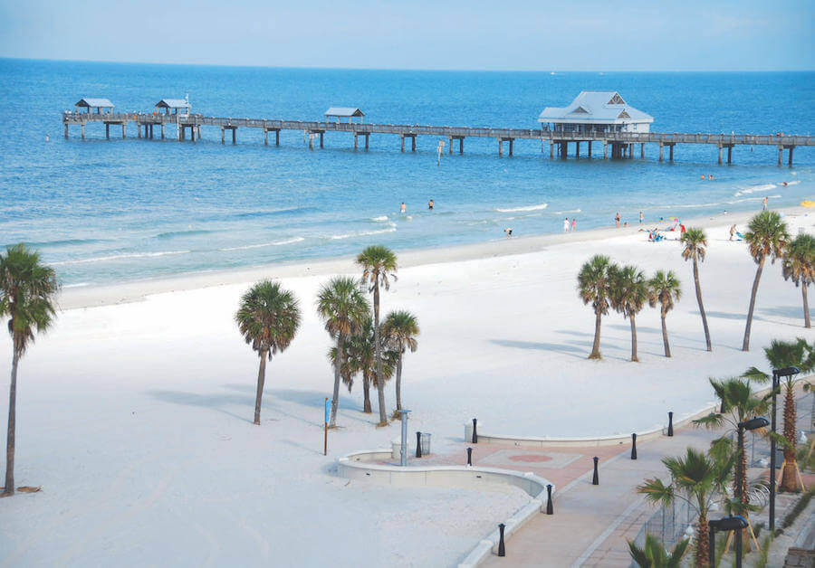 Clearwater Beach, Florida | Credits: Boston Herald