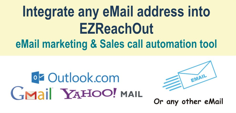 Integrate any eMail into EZReachout Outbound Marketing Tool