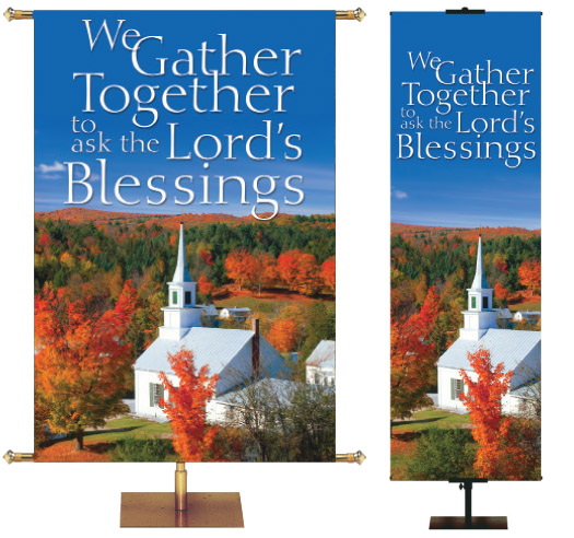 Autumn Banner For Church at Thanksgiving