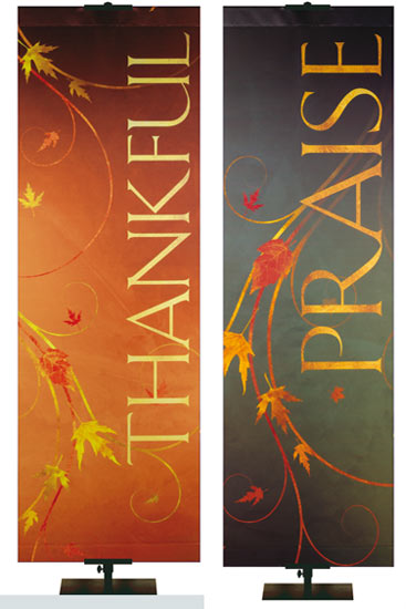 NEW! Autumn Faux Foil Banner Collection
