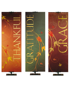 Autumn Theme Church Banners