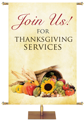 Custom Banner for Fall and Thanksgiving Services