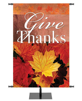 Fall Give Thanks Banner