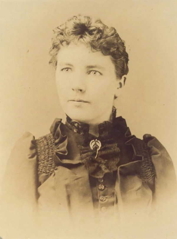 Laura Ingalls Wilder in 1891 while working in De Smet