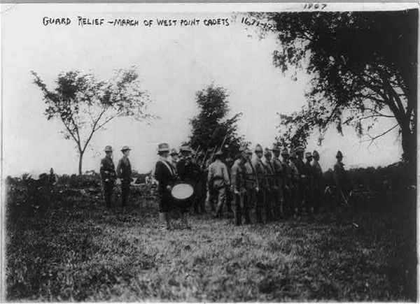 Guard relief - march of West Point cadets