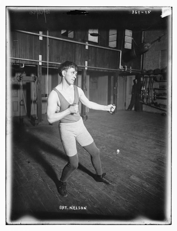 Bat. Nelson boxing pose