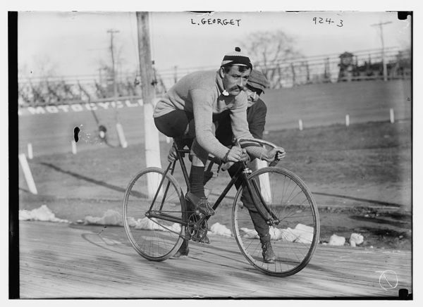 Cyclist L. Georget